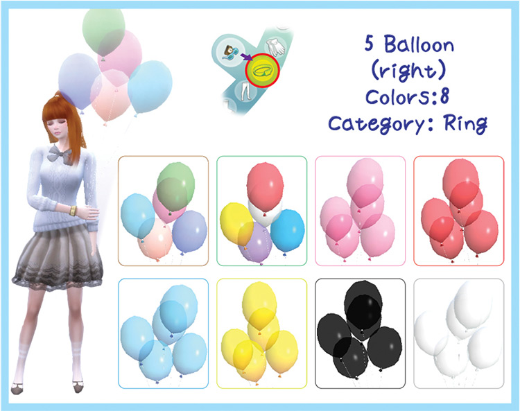 Accessory Balloons & Poses for The Sims 4