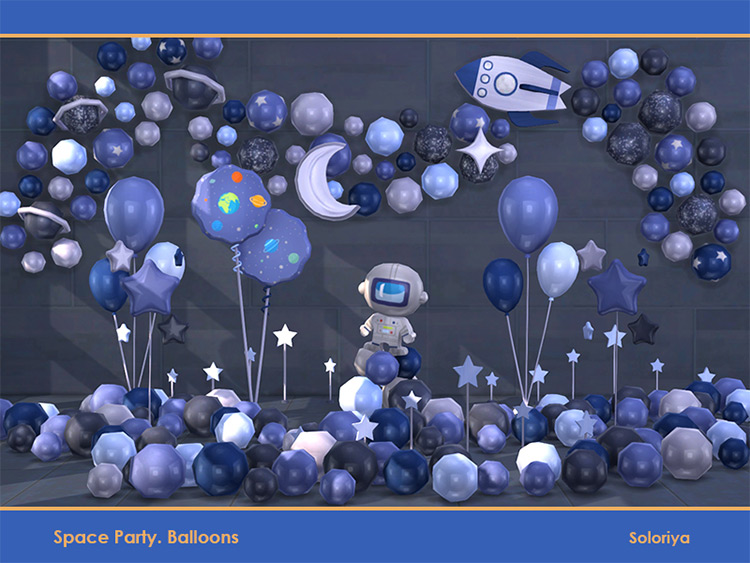 Space Party Balloons / TS4 CC