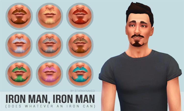 Iron Man Facial Hair / Sims 4 CC