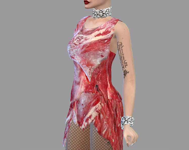 Lady Gaga Meat Dress / Sims 4 CC
