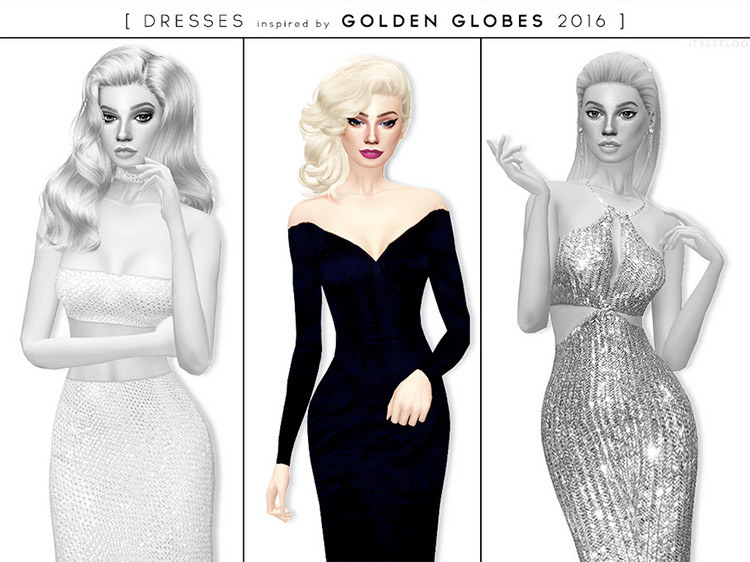 Lady Gaga's 2016 Golden Globes Dress / TS4 CC