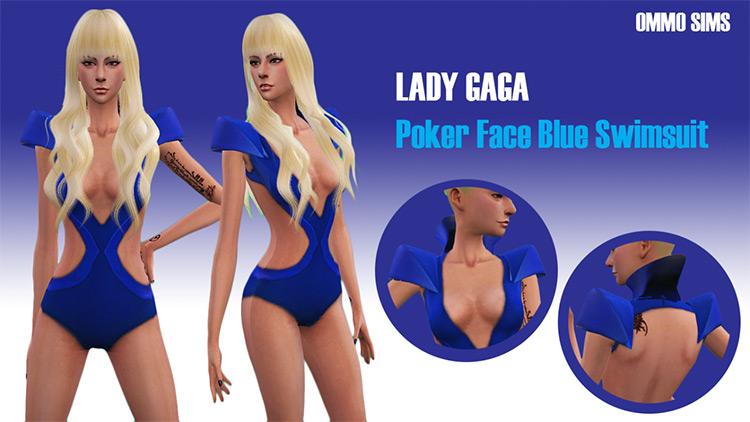 Poker Face Blue Swimsuit / Sims 4 CC