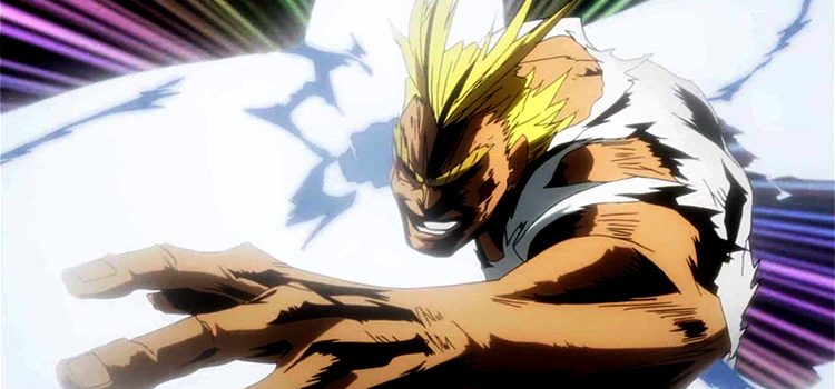 All Might Battle Pose Screenshot from BNHA
