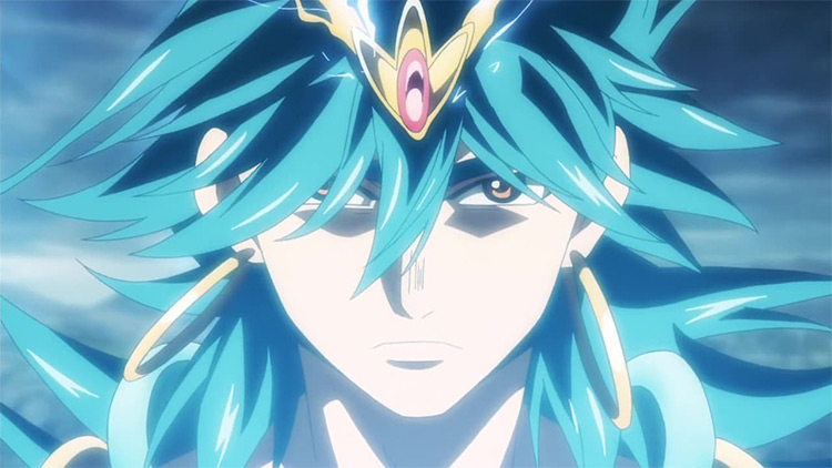 Sinbad in Magi anime screenshot