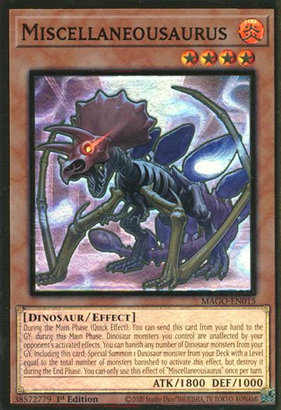Miscellaneousaurus Yu-Gi-Oh Card