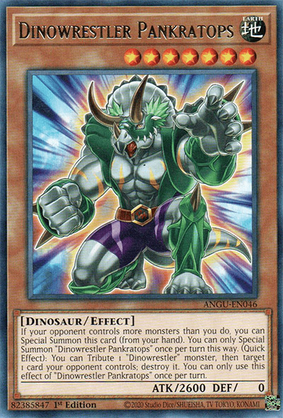 Dinowrestler Pankratops Yu-Gi-Oh Card