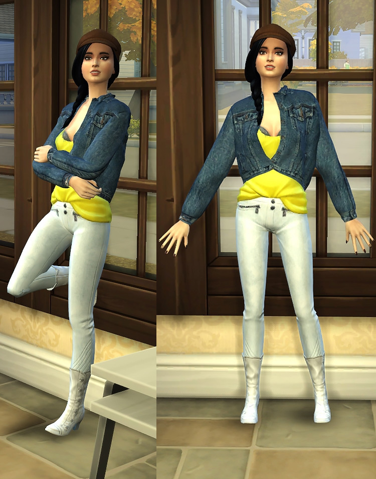 Against The Wall Poses for The Sims 4