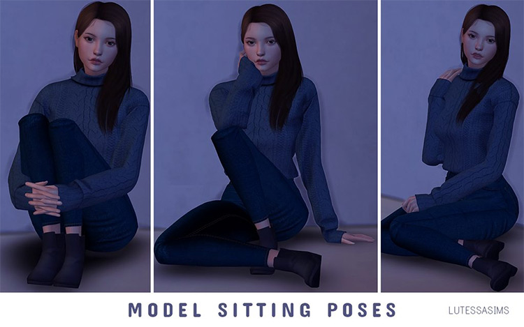 Model Sitting Poses for The Sims 4