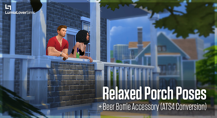 Relaxed Porch Poses for The Sims 4