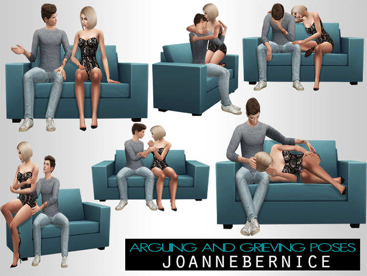 Seated Argue & Grief Poses / TS4