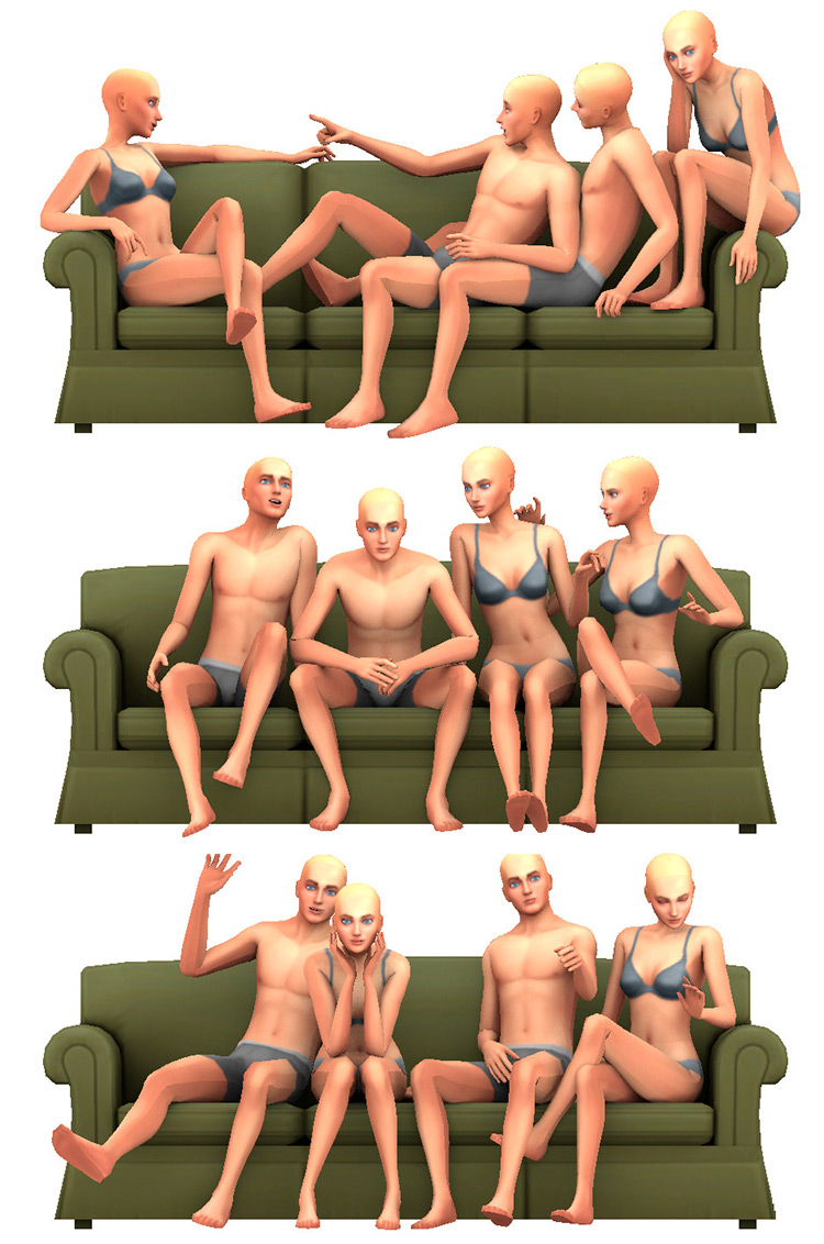 Group Sim Poses for The Sims 4