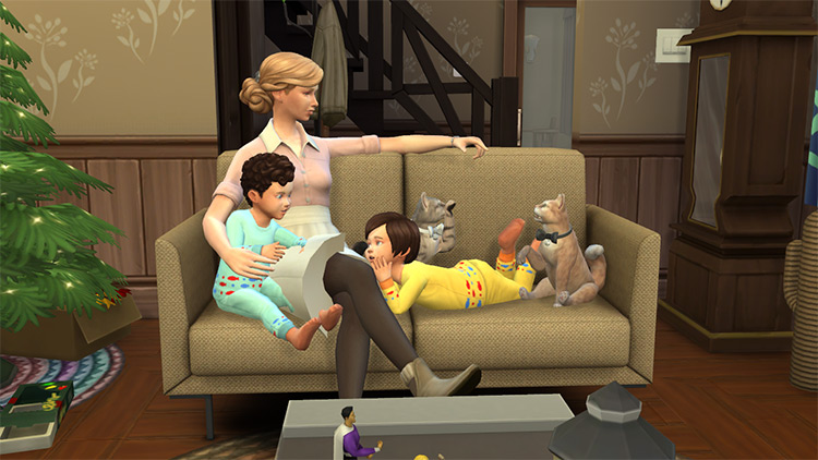 Family Pose with Couch / The Sims 4