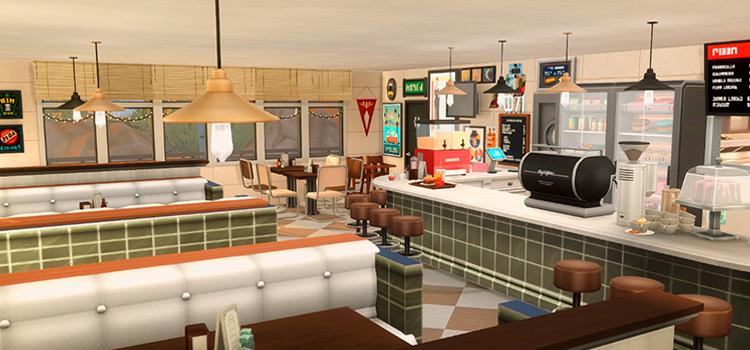 Custom Diner Interior in The Sims 4