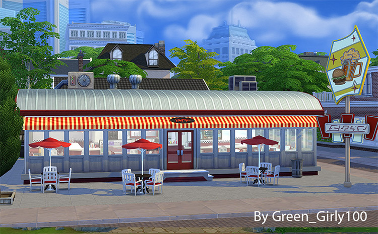 Willow's Diner CC for The Sims 4