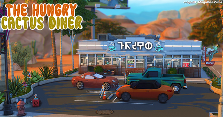 The Hungry Cactus Diner Lot for The Sims 4