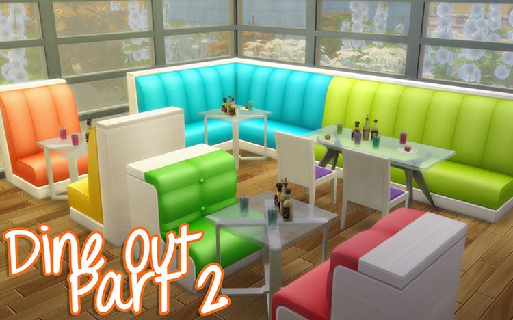 Dine Out Part 2 CC Set / The Sims 4
