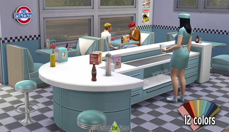 American Diner CC for The Sims 4