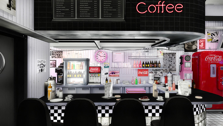 American Diner Collaboration Set for The Sims 4