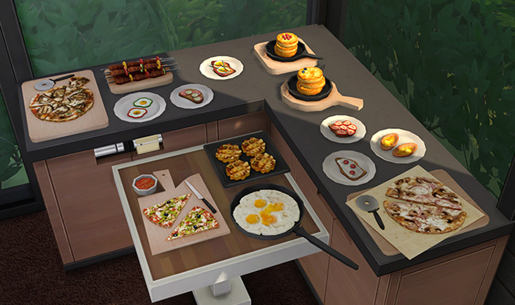 Snack Time Clutterpack for The Sims 4