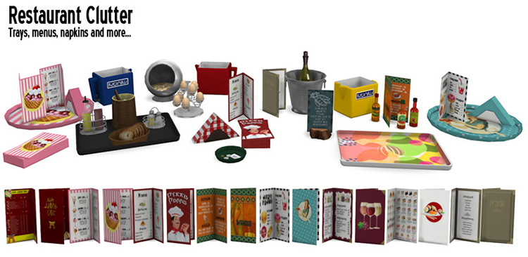 Restaurant Clutter CC Pack for The Sims 4