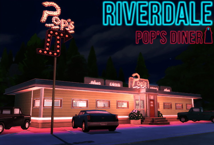 Riverdale Pop's Diner CC for The Sims 4