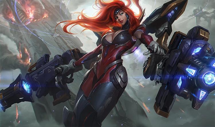 Gun Goddess Miss Fortune Splash Art / LoL