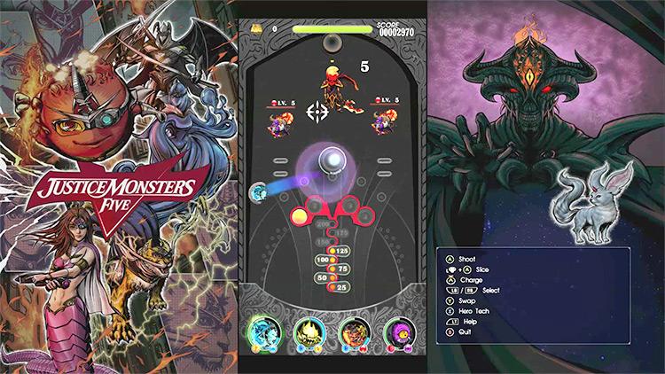 Justice Monsters 5 Pinball / FFXV gameplay screenshot