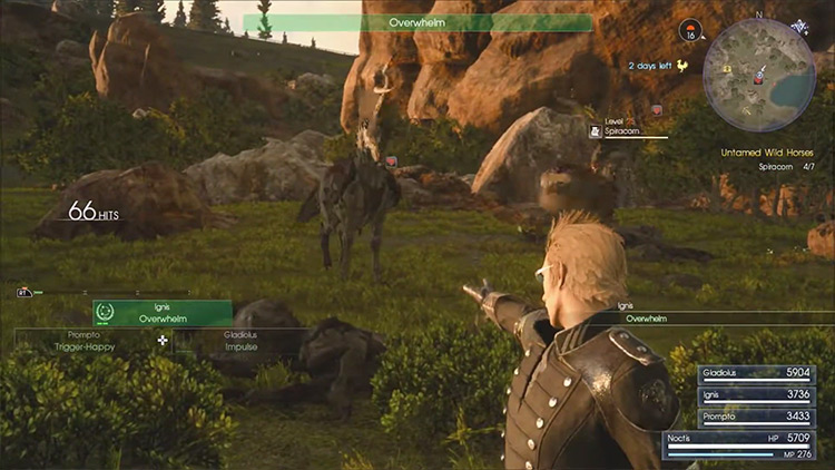 Spiracorns in the wild / FFXV screenshot