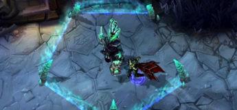 Thresh Support Champ In Battle / LoL Screenshot