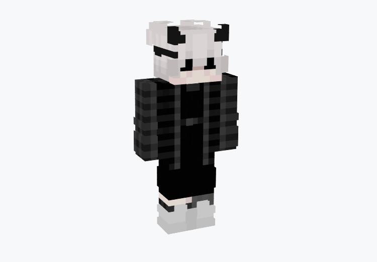 Simple Emo Boy with Horns / Minecraft Skin