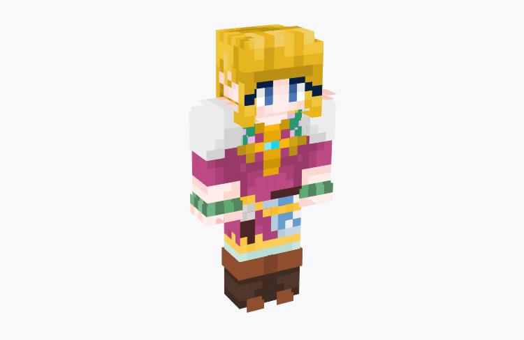 Princess Zelda from Skyward Sword / Minecraft Skin