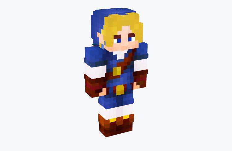 OoT Link Zora Tunic / Minecraft Skin