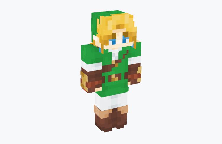 OoT Link in Kokiri Tunic / Minecraft Skin