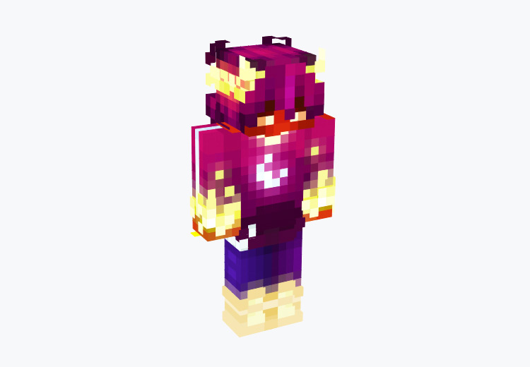 Inferno Horns Character / Minecraft Skin