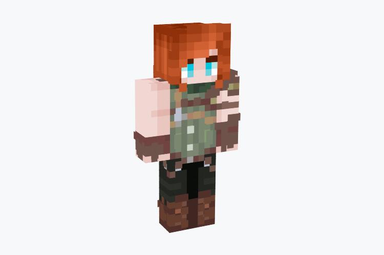 Red Hair Elf Archer Character / Minecraft Skin