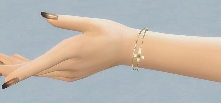Female cross-chain bracelet preview / Sims 4 CC
