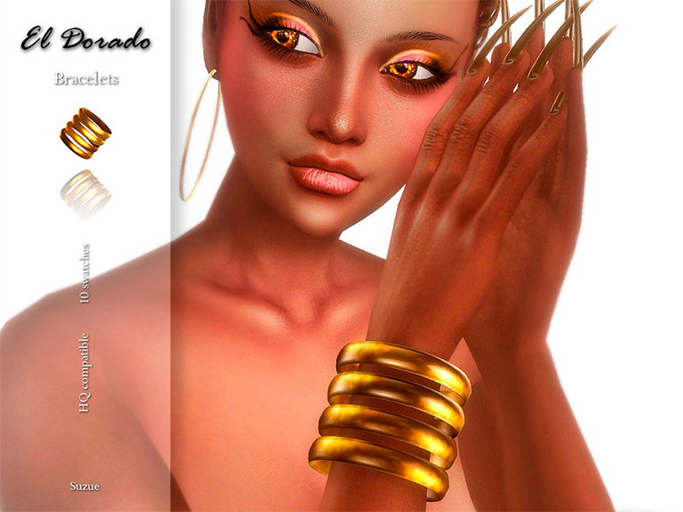 El Dorado Yellow Bangle Bracelets / Sims 4 CC