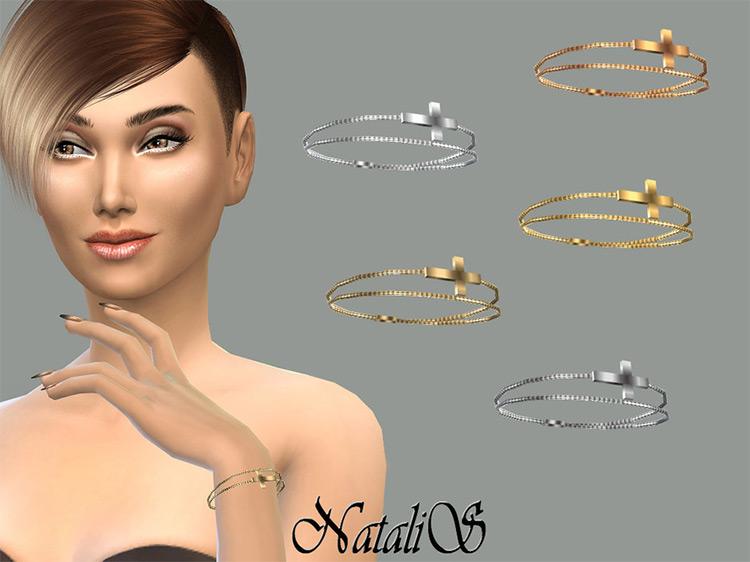 Cross Chain Bracelet for The Sims 4