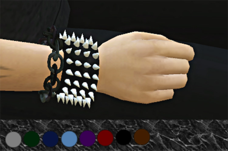 Male Spiked Bracelet with Chain / TS4 CC