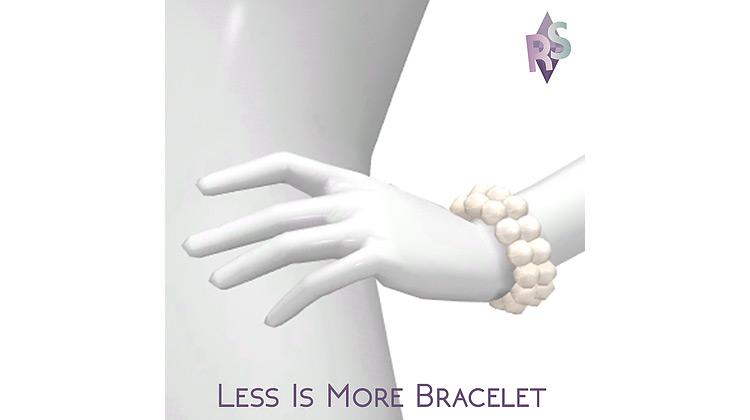 Minimalist White Pearl Bracelet / Sims 4 CC