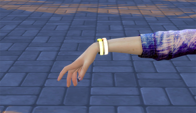 Glow Bracelets CC for The Sims 4