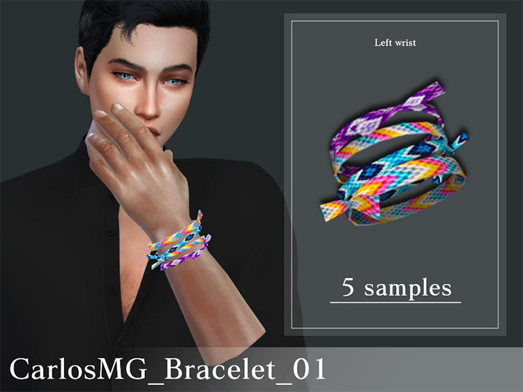 Male Weaved Colorful Bracelet / Sims 4 CC