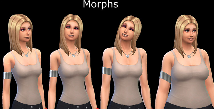 Metal Arm Cuff CC for The Sims 4