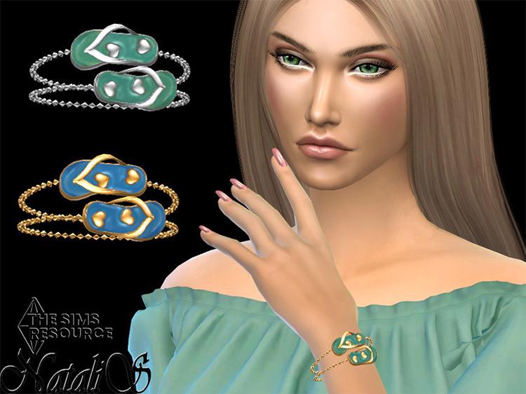 Flip Flop Chain Bracelet / Sims 4 CC