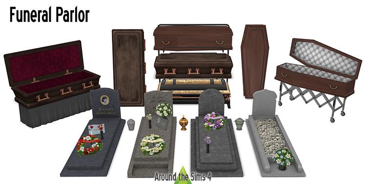 Funeral Parlor Set / Sims 4 CC