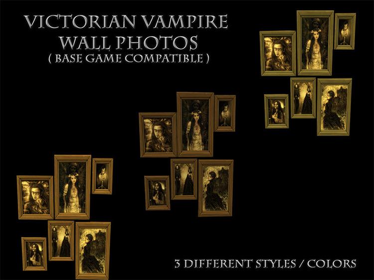 Victorian Vampire Wall Photos / TS4 CC