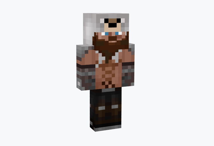Norse Berserker With Muscles / Minecraft Skin