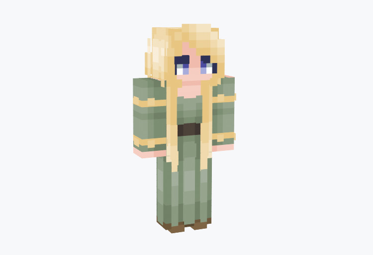 Sif Blonde Wife of Thor / Minecraft Skin