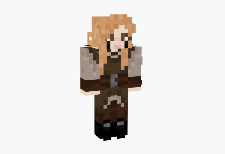 Nordic Woman with Dirty Blonde Hair / Minecraft Skin