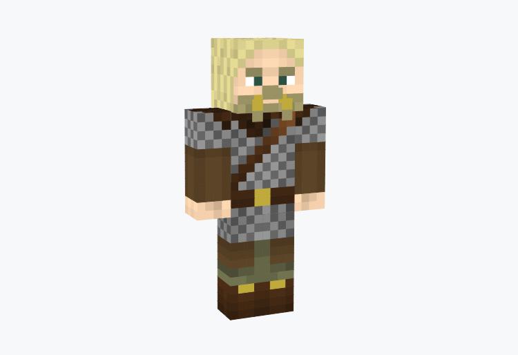 Viking Warlord Male Character / Minecraft Skin